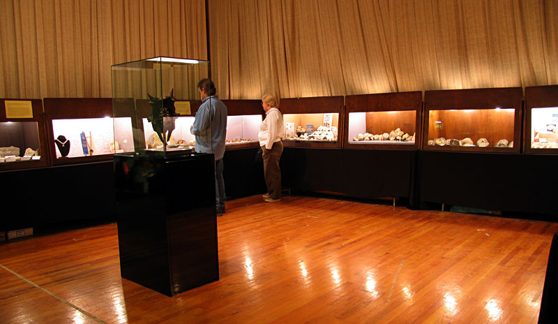 Display cases at show