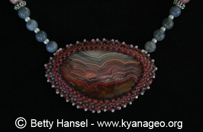 necklace of crazy lace agate